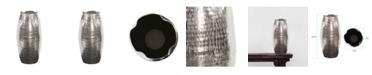 Howard Elliott Textured Bright Silver Aluminum Pinched Top Vase, Large