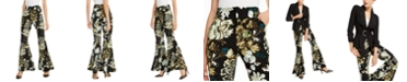 INC International Concepts INC Printed Flare-Leg Pants, Created for Macy's