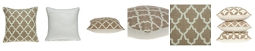 Parkland Collection Canita Transitional Beige and White Pillow Cover