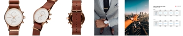 MVMT Men's Voyager Rosewood Leather Strap Watch 42mm