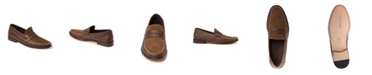 Sandro Moscoloni Whip Stitch Moc Toe Penny Strap Slip-On