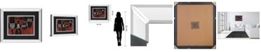 "Classy Art Wine Selection III by Daphane Brissonet Mirror Framed Print Wall Art, 34"" x 40"""
