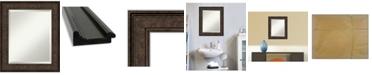 "Amanti Art Ridge Framed Bathroom Vanity Wall Mirror, 21.5"" x 25.50"""
