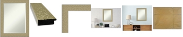 "Amanti Art Mosaic Gold-tone Framed Bathroom Vanity Wall Mirror, 22.25"" x 28.25"""