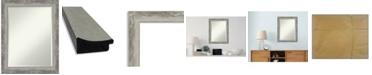 "Amanti Art Waveline Silver-tone Framed Bathroom Vanity Wall Mirror, 22.38"" x 28.38"""