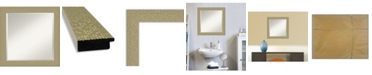 "Amanti Art Mosaic Gold-tone Framed Bathroom Vanity Wall Mirror, 24.25"" x 24.25"""