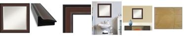 """Amanti Art Harvard Framed Bathroom Vanity Wall Mirror, 24.5"""" x 24.50"""""""