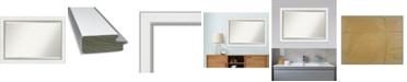 "Amanti Art Eva Silver-tone Framed Bathroom Vanity Wall Mirror, 41.25"" x 29.25"""