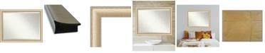 "Amanti Art Elegant Brushed Honey Framed Bathroom Vanity Wall Mirror, 44.75"" x 34.75"""