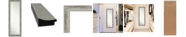 "Amanti Art Waveline Silver-tone on The Door Full Length Mirror, 18.38"" x 52.38"""