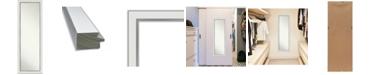 "Amanti Art Eva Silver-tone on The Door Full Length Mirror, 17.12"" x 51.12"""