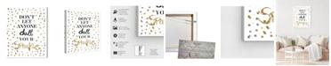 """Oliver Gal Always Shine Confetti Canvas Art, 36"""" x 45"""""""