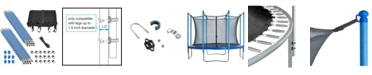 Upperbounce Trampoline Enclosure Set to fit 12' Round Frames, for 4 or 8 W-Shaped Legs -Set Includes: Net, Poles and Hardware Only