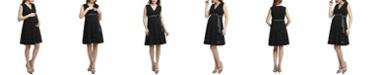 kimi + kai Marji Lace Accent Maternity Nursing Dress