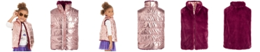 Epic Threads Toddler Girls Reversible Metallic & Faux-Fur Vest, Created For Macy's