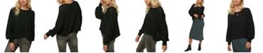 O'Neill Juniors' Seaport Cotton Balloon-Sleeve Sweater