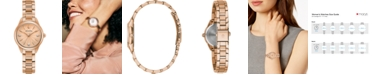 Bulova Women's Sutton Diamond-Accent Rose Gold-Tone Stainless Steel Bracelet Watch 28mm