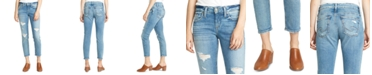 Silver Jeans Co. Distressed Cropped Boyfriend Jeans