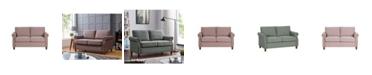 Us Pride Furniture Cowie Classic Nailhead Loveseat