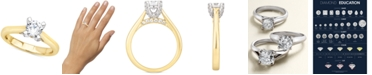 Macy's Certified Diamond Solitaire Engagement Ring (1 ct. t.w.) in 14k Yellow or White Gold