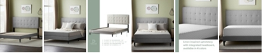 Dream Collection UpholsteredPlatformBed Frame withSquare TuftedHeadboard, Twin