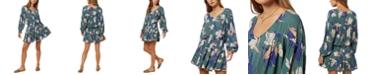 O'Neill Juniors' Amaryn Floral-Print Mini Dress