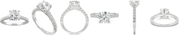 Charles & Colvard Moissanite Engagement Ring (1-9/10 ct. t.w. DEW) in 14k White Gold
