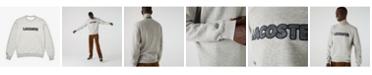 Lacoste Men's Regular Fit Crew Neck Fleece Sweatshirt with Lacoste Herringbone Logo