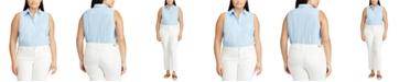 Lauren Ralph Lauren Plus Size Sleeveless Top