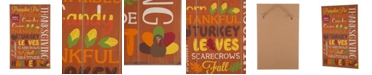 Glitzhome Thanksgiving Word Sign Hanging Decor