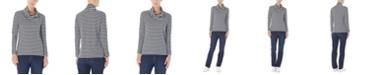 Jones New York  Long Sleeve Cowl Neck Pullover Top