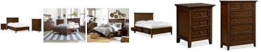 Furniture Matteo Storage Platform Bedroom 3 Piece Bedroom Set, Created for Macy's,  (Queen Bed, Chest and Nightstand)