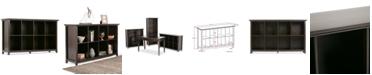 Simpli Home Canton 8 Cube Storage Sofa Table