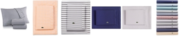 Lacoste Home Lacoste Printed Cotton Percale Pair of Standard Pillowcases