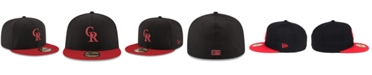 New Era Colorado Rockies Black & Red 59FIFTY Fitted Cap