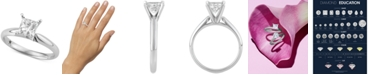 Macy's Star Signature Diamond Princess Cut Solitaire Engagement Ring (1 ct. t.w.) in 14k White Gold, SI2 Clarity