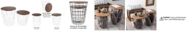 "Trademark Global Nesting End Tables with Storage- Set of 2 by Lavish Home, 20.5"" x 17.5"" x 17.5"""