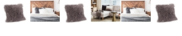 Moe's Home Collection Lamb Fur Pillow Large Gray