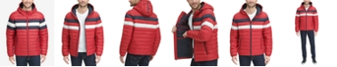 Tommy Hilfiger Men's Color Block Hooded Ski Puffer Coat, Created for Macy's