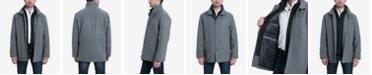 Tommy Bahama London Fog Big & Tall Wool Blend Stand-Collar Bib Car Coat