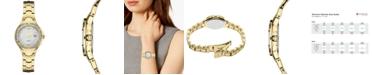 Seiko Women's Solar Diamond Collection Diamond-Accent Gold-Tone Stainless Steel Bracelet Watch 29mm