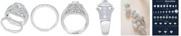 Macy's Diamond Raised Halo Bridal Set (2-1/2 ct. t.w.) in 14k White Gold