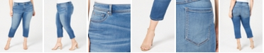 INC International Concepts INC Plus & Petite Plus Size INCFinity Cropped Skinny Jeans, Created for Macy's