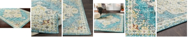 """Abbie & Allie Rugs Morocco MRC-2310 Teal 18"""" Area Rug Swatch"""