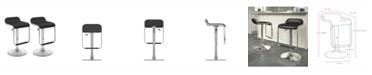 CorLiving Adjustable Barstool with Footrest in Leatherette, Set of 2