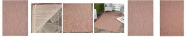 "Safavieh Courtyard Red and Beige 5'3"" x 7'7"" Sisal Weave Area Rug"