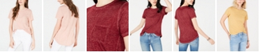 Ultra Flirt Juniors' Boyfriend Pocket T-Shirt