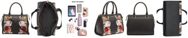 Calvin Klein Mercy Floral Leather Satchel