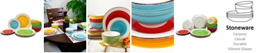 Laurie Gates Confetti Band 12 Piece Mix and Match Dinnerware Set