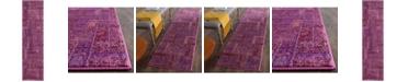 "Safavieh Monaco Purple and Multi 2'2"" x 8' Runner Area Rug"
